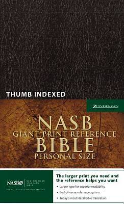 Picture of Giant Print Reference Bible-NASB-Personal Size