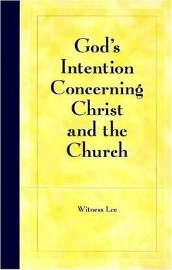 Picture of God's Intention Concerning Christ and the Church