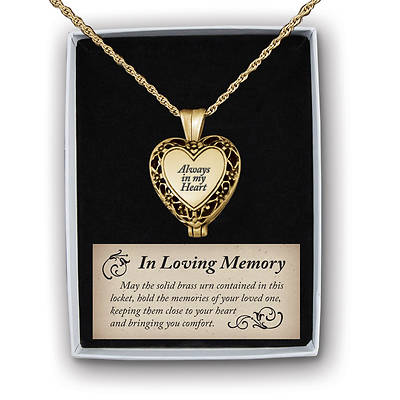 Picture of Always in My Heart Memorial Ash Holder Locket Antique Gold-tone