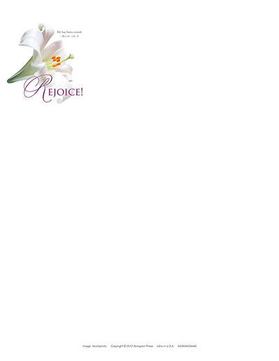 Rejoice! Easter Lilies Letterhead 2013 (Package of 50)