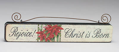 Rejoice! Christ is Born- Wall Plaque