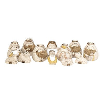 """Picture of Nativity Set with Animals 1 1/4"""" (12 Piece)"""