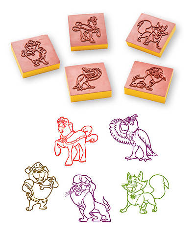 Group VBS 2013 Kingdom Rock Bible Buddy Stampers (set of 5)