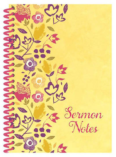 Sermon Notes Journal, Floral Design