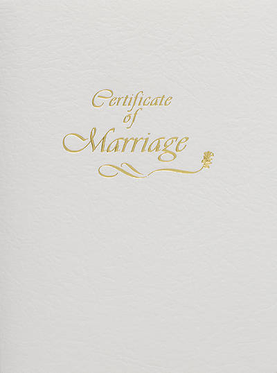Steel-Engraved Marriage Certificate