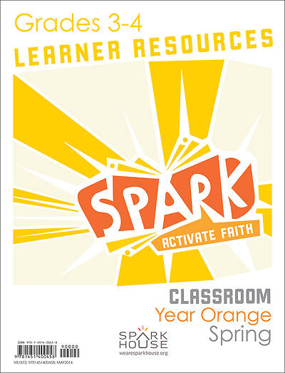 Spark Classroom Grades 3-4 Learner Leaflet Spring Year Orange