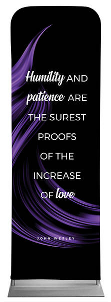 Picture of Humilty and Patience Color Swirl Words of Wesley Sleeve Banner