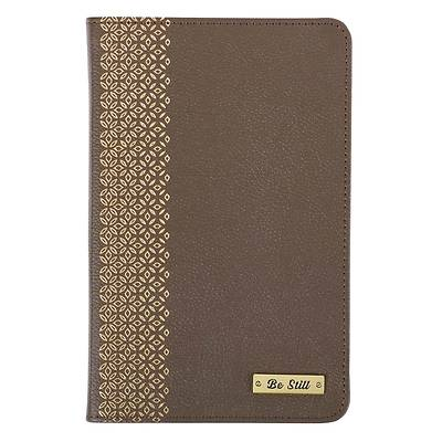 Picture of Leather Journal Be Still Badge Psalm 46