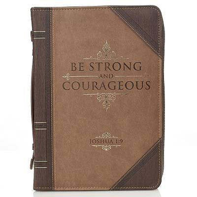 Bible Cover Large Be Strong & Courageous