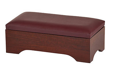 Personal Kneeler with Storage - Walnut Stain