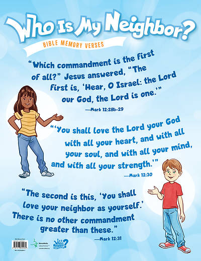 Vacation Bible School 2019 Who Is My Neighbor: Memory Verse Poster