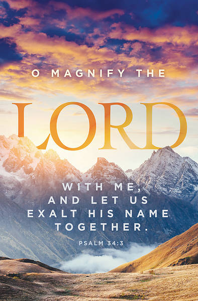 O Magnify the Lord General Regular Size Bulletin