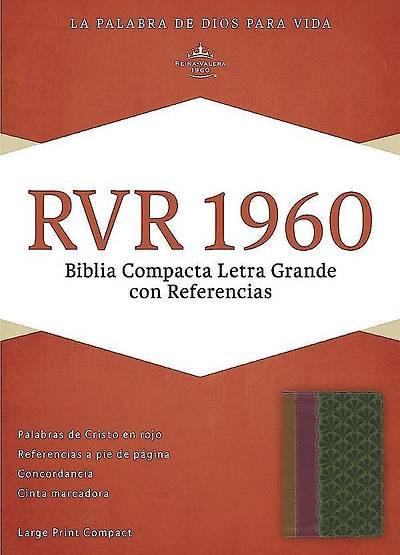 Picture of Rvr 1960 Biblia Compacta Letra Grande Con Referencias, Chocolate/Ciruela/Verde Jade Simil Piel