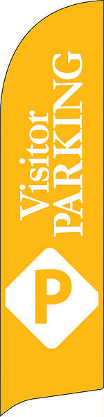 Picture of Visitor Parking Flag Banner