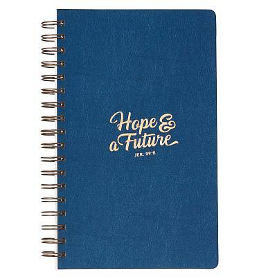 Picture of Journals Lux-Leather Wirebound Flexcover Hope & a Future Blue