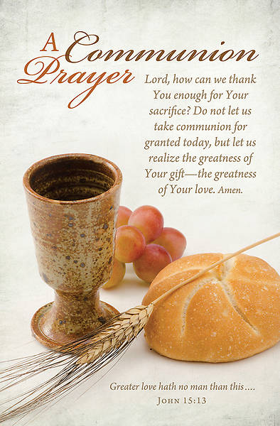 Communion Bulletin - John 15:13 - Regular 8 1/2