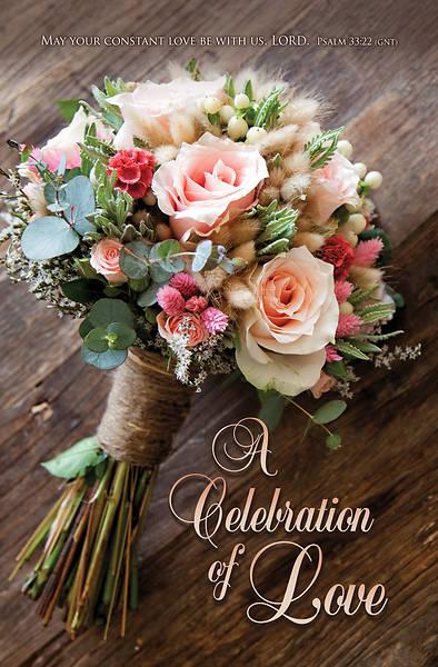 Picture of Celebration of Love Wedding Regular Size Bulletin
