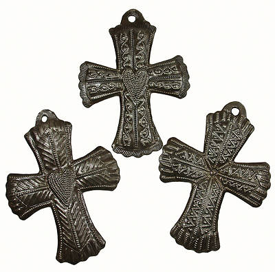Small Wide Metal Wall Art Cross