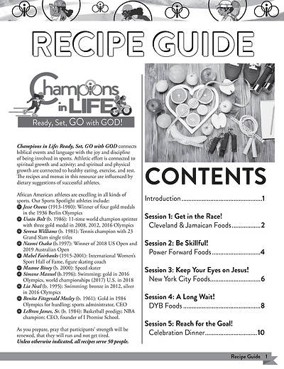 Picture of Vacation Bible School (VBS) 2020 Champions in Life Recipe Guide