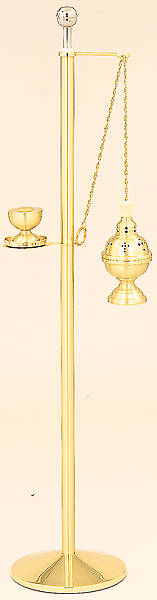 Censer Stand with Stainless Steel Holy Water Sprinkler