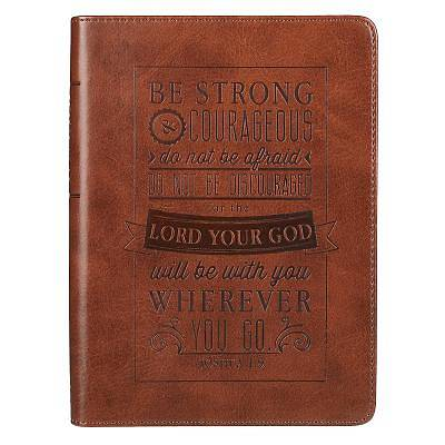 Picture of Be Strong & Courageous Brown Flexcover Journal - Joshua 1:9