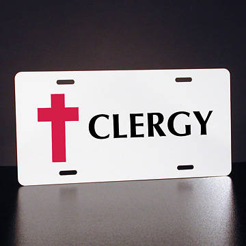 Full-Color Clergy License Plate