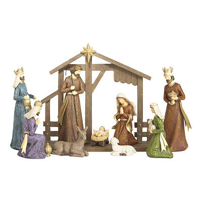 Picture of Nativity Colorful Wood Look (10 Piece)