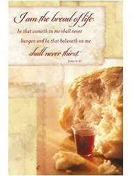 Communion Bulletin-I Am the Bread of Life, Package of 100