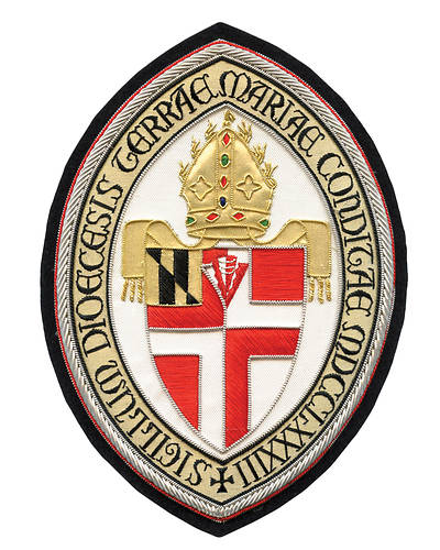 Hand Embroidered Diocesan Seal - Diocese of Maryland