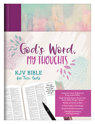 Picture of God's Word, My Thoughts KJV Bible for Teen Girls