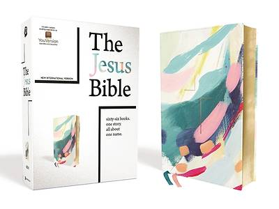 Picture of The Jesus Bible, NIV Edition, Leathersoft, Multi-Color/Teal, Comfort Print