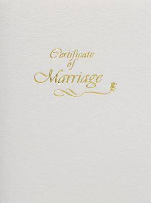 Contemporary Marriage Certificate Booklet with Traditional Service
