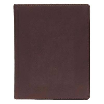 CSB Notetaking Bible, Brown Genuine Leather Over Board