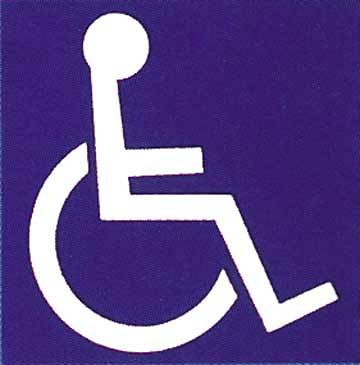 Outdoor Handicap Symbol Bulletin Board