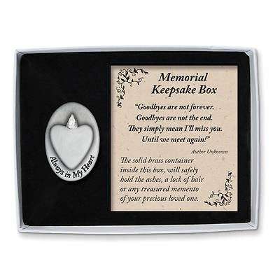 Always in My Heart Pewter Memorial Box