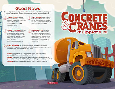Picture of Vacation Bible School (VBS) 2020 Concrete and Cranes Bulletins Pkg 25