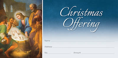 Nativity of Jesus Christmas Offering Envelope ENGLISH