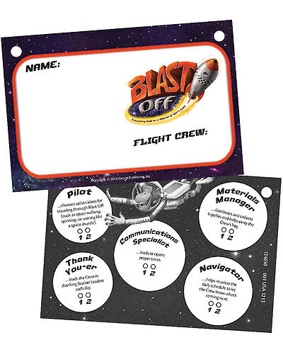 Group VBS 2014 Weekend Blast Off Blast Off Name Badges (Pkg. of 10)