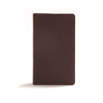 CSB Readers Bible, Brown Genuine Leather