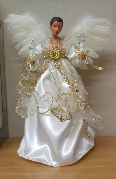 Lighted African American Angel Tree Topper