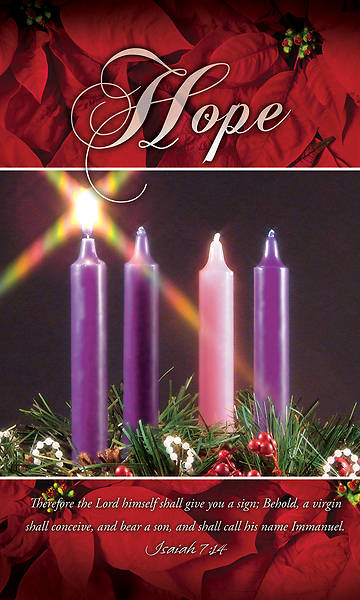 Picture of Hope Advent Wreath 3' X 5' Fabric Banner