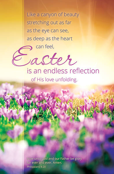 Endless Reflection Easter Regular Size Bulletin
