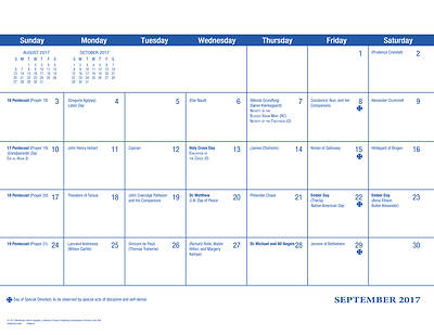 2018 Parish Wall Calendar