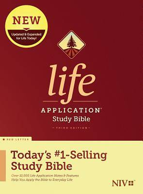 Picture of NIV Life Application Study Bible, Third Edition (Red Letter, Hardcover)