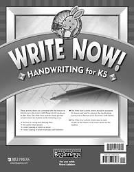 Picture of Beginnings Write Now Handwriting Grd K5 3rd Edition