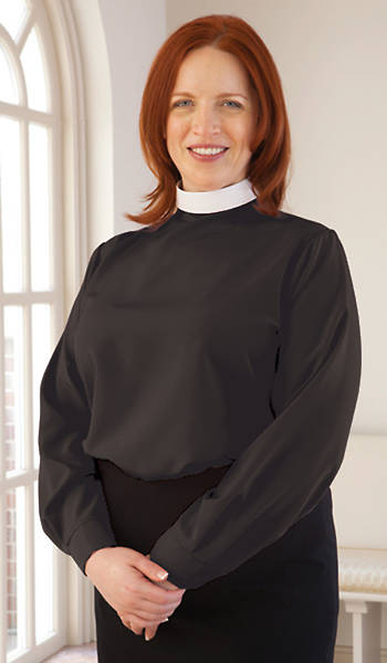 WomenSpirit Long Sleeve Shell Clergy Blouse