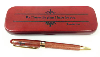 Boxed Wooden Pen - For I know the plans I have for you