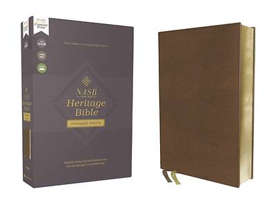 Picture of Nasb, Heritage Bible, Passaggio Setting, Leathersoft, Brown, 1995 Text, Comfort Print