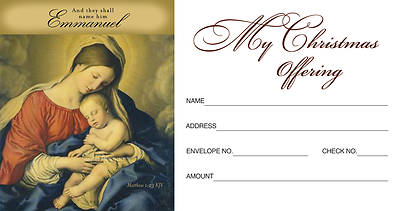 Christmas Nativity/Emmanuel Offering Envelope 2011 (Package of 50)
