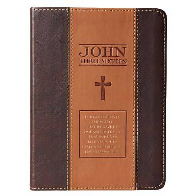 Journal Lux-Leather Two-Tone Tan/Brown John 3